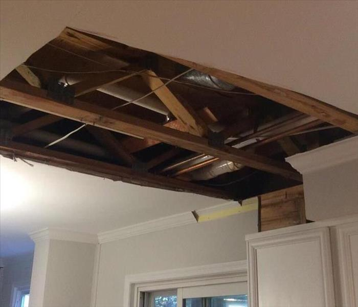 Ceiling Damage from Water in Kitchen After